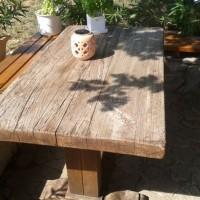 Nagy méretű rusztikus étkező asztal a Nemes Bútortól -10