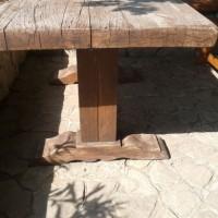 Nagy méretű rusztikus étkező asztal a Nemes Bútortól -9
