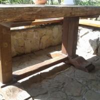 Nagy méretű rusztikus étkező asztal a Nemes Bútortól -8