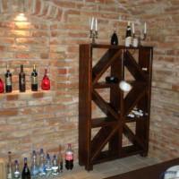 Bortároló polc borospincébe egyedi igény alapján a Nemes Bútortól -10