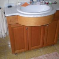 Egyedi beépített mosdó szekrénnyel a Nemes Bútortól -23