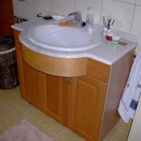 Egyedi beépített mosdó szekrénnyel a Nemes Bútortól -22
