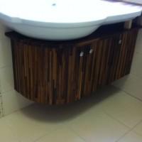 Egyedi beépített mosdó és szekrény a Nemes Bútortól -5