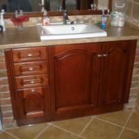Egyedi beépített mosdó és szekrény a Nemes Bútortól -4
